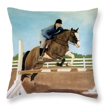 Throw Pillow featuring the painting Mississippi Mudd by Jan Amiss