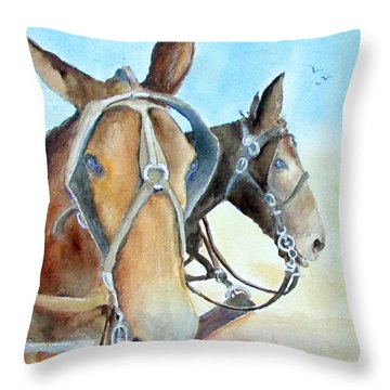 Mississippi Mules Throw Pillow