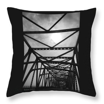 Mississippi River Bridge Throw Pillow