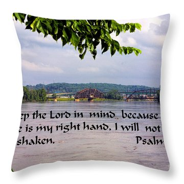 Mississippi River Olams 16v8 Throw Pillow by Linda Phelps