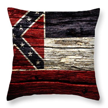 Mississippi State Flag 2w Throw Pillow
