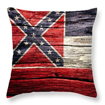 Mississippi State Flag 4w Throw Pillow