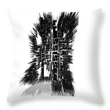 Mississippi Typographic Map 4c Throw Pillow