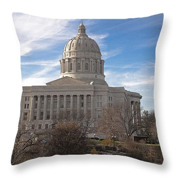 Missouri Capital Throw Pillow