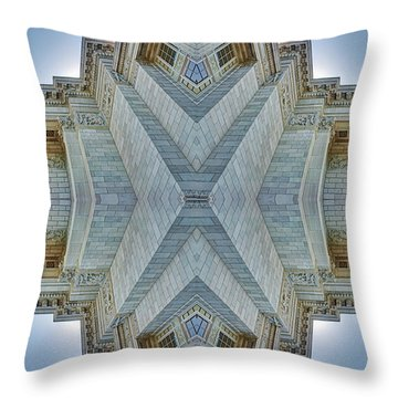 Throw Pillow featuring the photograph Missouri Capitol - Abstract by Nikolyn McDonald