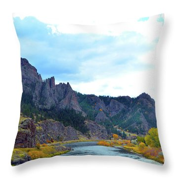 Missouri River Colors Throw Pillow