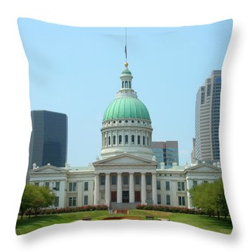 Throw Pillow featuring the photograph Missouri State Capitol Building by Mike McGlothlen