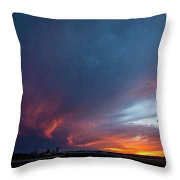 Missouri Sunset Throw Pillow