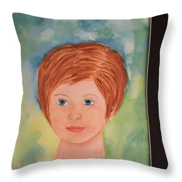 Throw Pillow featuring the painting Missy by Donald Paczynski