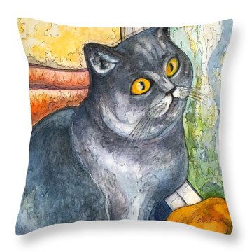 Missy With Fruits Throw Pillow