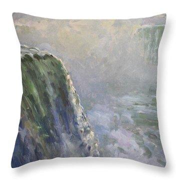 Mist At Horseshoe Falls  Throw Pillow