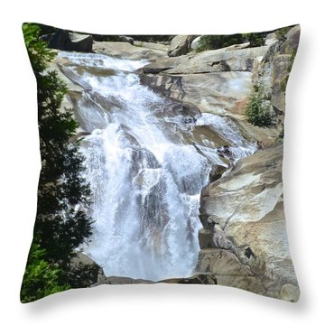 Mist Falls Throw Pillow by Amelia Racca