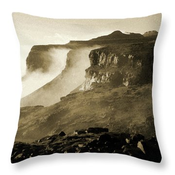 Mist In Lesotho Throw Pillow