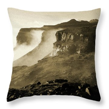 Throw Pillow featuring the photograph Mist In Lesotho by Susie Rieple