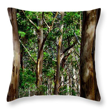 Mist In The Forest Throw Pillow