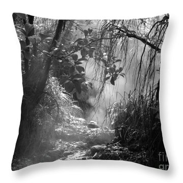 Mist In The Jungle Throw Pillow