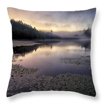Bass Lake Sunrise - Blue Ridge Parkway Throw Pillow