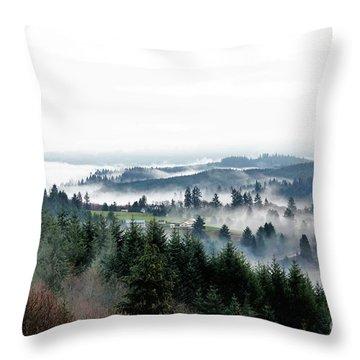 Mist Rising Throw Pillow