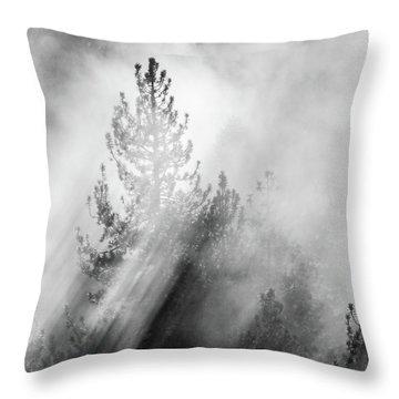 Mist Shadows Throw Pillow