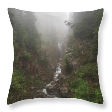 Misted Waterfall Throw Pillow