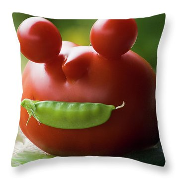 Mister Tomato Throw Pillow