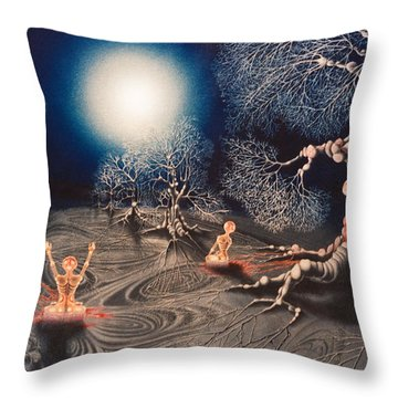 Mistery Of Cosmic Obsession Throw Pillow