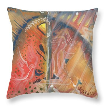 Mistic Cave Throw Pillow