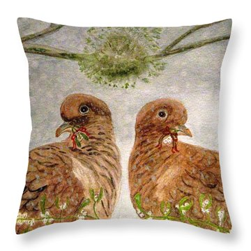 Mistletoe Magic Throw Pillow