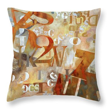 Misto Arancione Throw Pillow
