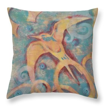 Mistral's Messenger Throw Pillow by Cynthia Lagoudakis