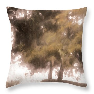 Mists Begin To Lift Throw Pillow