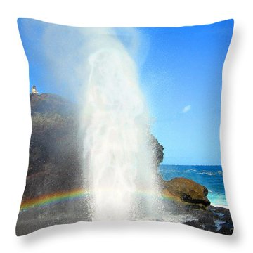 Throw Pillow featuring the digital art Mists Of Nakalele by Kenneth Armand Johnson