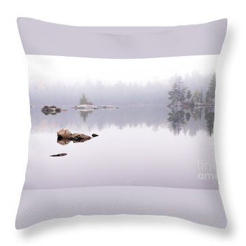 Misty Algonquin Morning Throw Pillow