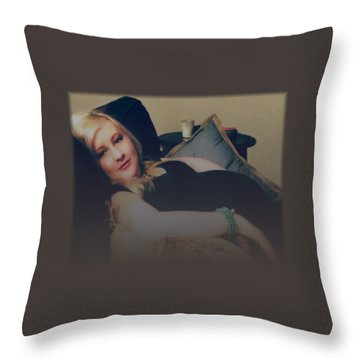 Misty Annah Relaxing Throw Pillow