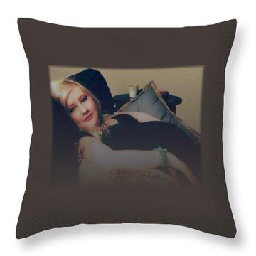 Misty Annah Relaxing Throw Pillow by Ellen O'Reilly