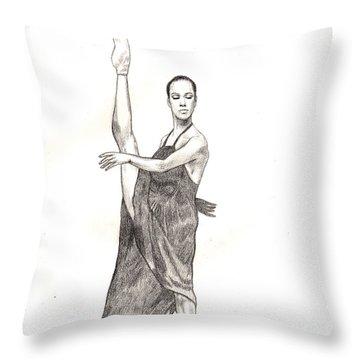 Misty Ballerina Dancer  Throw Pillow