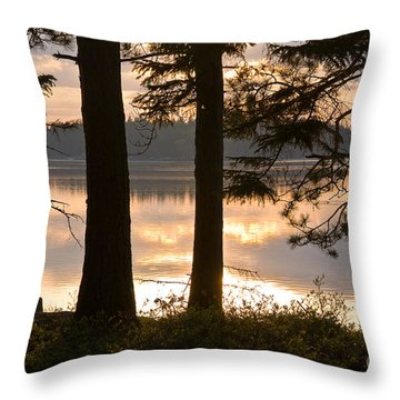 Misty Bay Throw Pillow