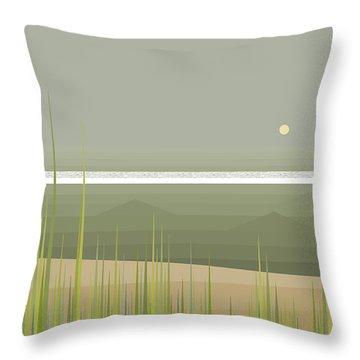 Misty Beach Throw Pillow
