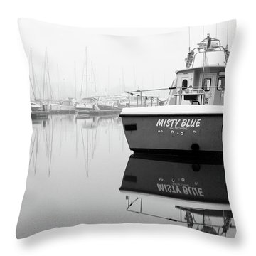 Throw Pillow featuring the photograph Misty Blue Eastbourne by Will Gudgeon