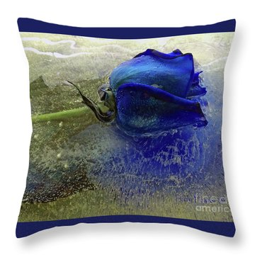 Throw Pillow featuring the digital art Misty Blue by Terry Foster