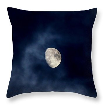 Blue Vapor Throw Pillow by Glenn Feron
