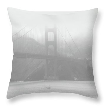 Misty Bridge Throw Pillow by Donna Blackhall