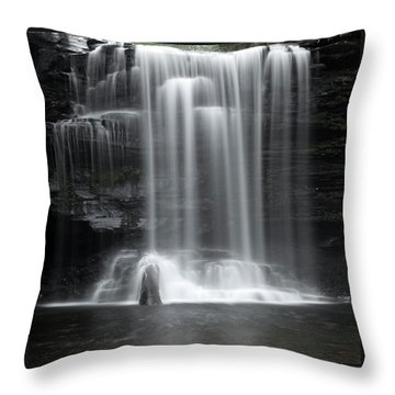 Misty Canyon Waterfall Throw Pillow