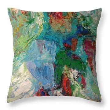 Misty Depths Throw Pillow