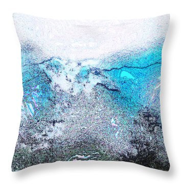 Misty Desert Storm II Throw Pillow