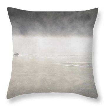 Misty Duck Throw Pillow