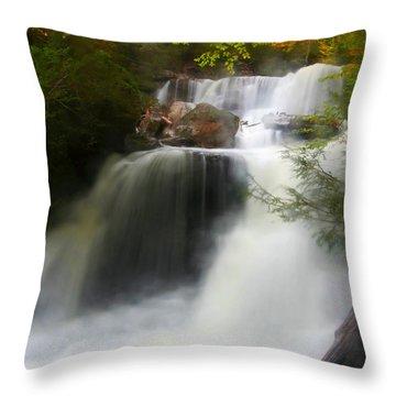 Misty Fall Throw Pillow
