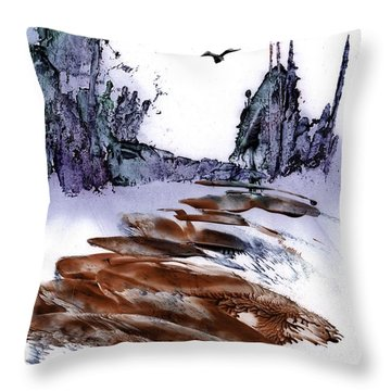 Misty Heights Throw Pillow