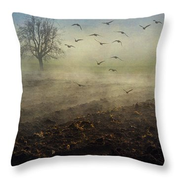 Misty Meadows Throw Pillow