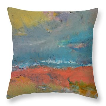 Misty Throw Pillow by Michael Creese